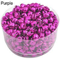 Маленькие колокольчики, бубенчики (25 шт.) Цвет: фиолетовый(фуксия)