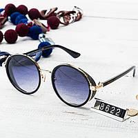 Женские брендовые очки Jimmy Choo круглые в золотой оправе