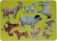 """Трафарет """"Домашие животные и их детеныши"""" Луч"""