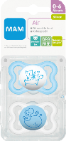 MAM Beruhigungssauger Air aus Silikon, 0-6 Monate - Пустышка силиконовая, 0-6 месяцев, 2 шт., фото 1
