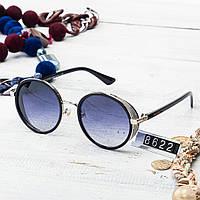 Женские брендовые очки Jimmy Choo круглые в серебрянной оправе