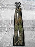 Набор шампуров в чехле 10 шт нержавейка 55 см 1,5 мм
