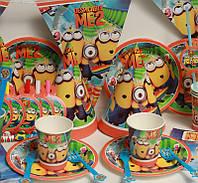 Детские наборы для празднования Дня Рождения  с героями мультфильмов в ассортименте