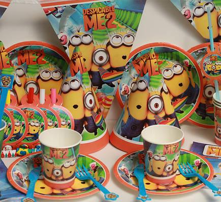 Набор для детского Дня Рождения  с героями мультфильмов в ассортименте
