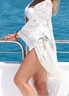 Пляжная накидка белая