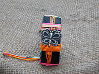 Яркий кожаный браслет рука БАБОЧКА, ручная работа