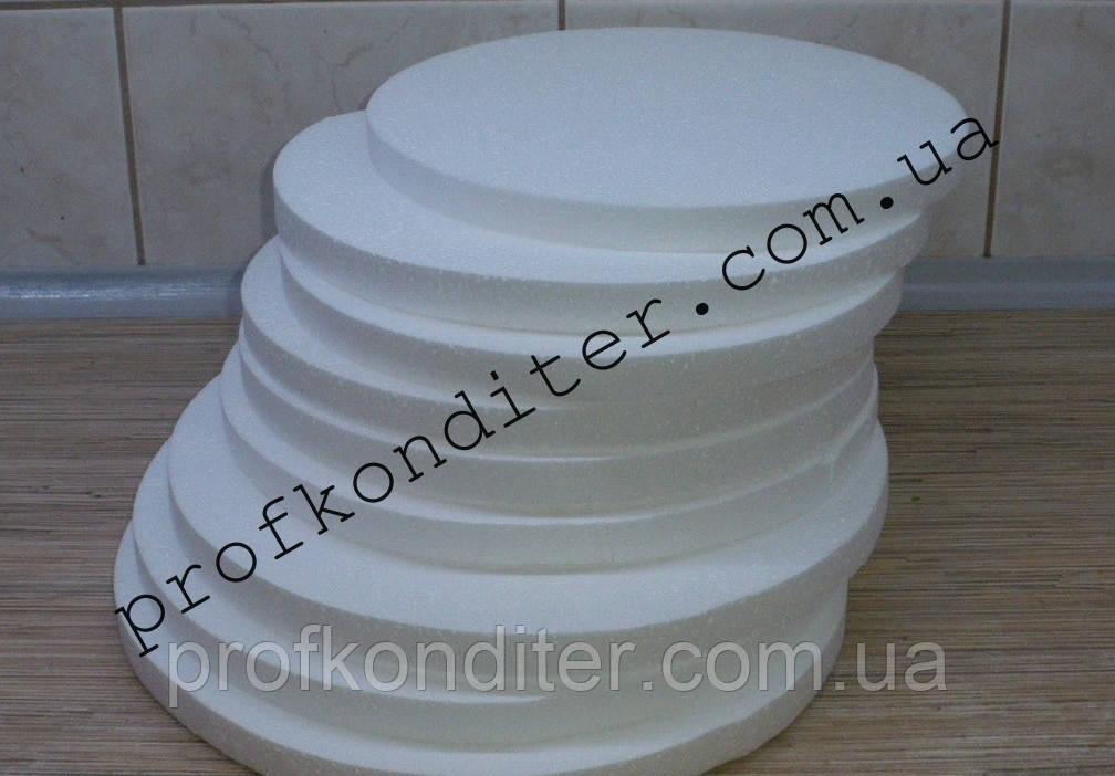 Подложка под торт пенопластовая высота 3см, диаметр 30см