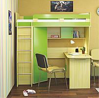"""Детская кровать-чердак со столом и шкафом """"Лео"""""""