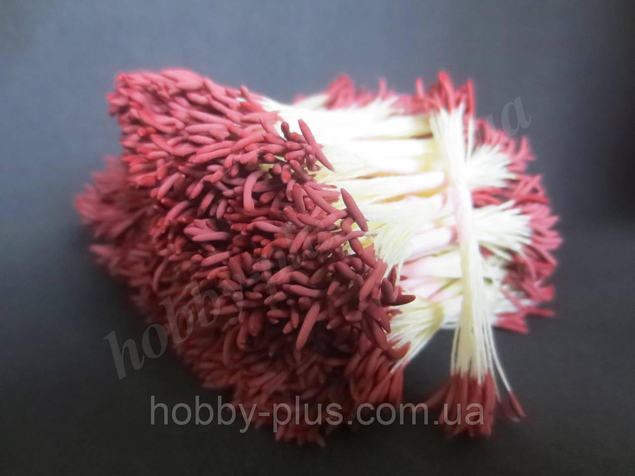 Тайские тычинки, КОРИЧНЕВЫЕ, удлиненные на светло-желтой нити, 23-25 нитей, 50 головок