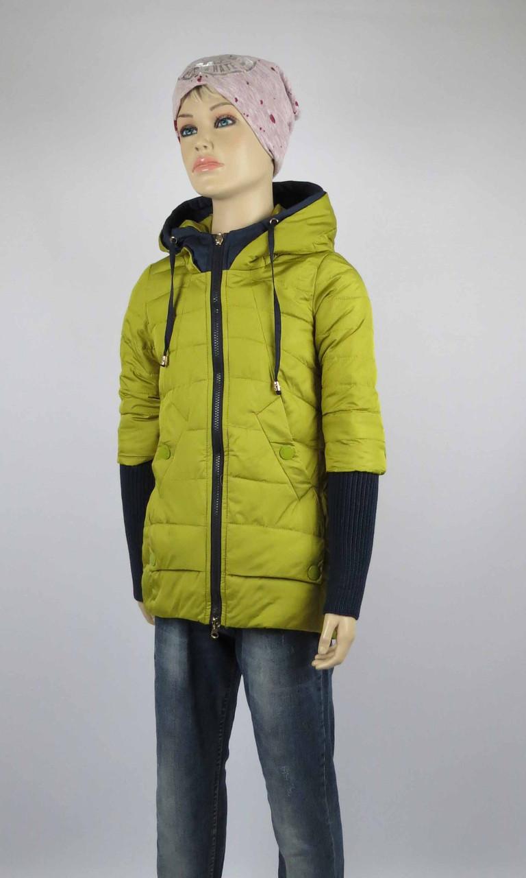 Куртка весна-осень, код 8624, размеры 140-164 (10 лет и старше) , цвет синий, фото 1
