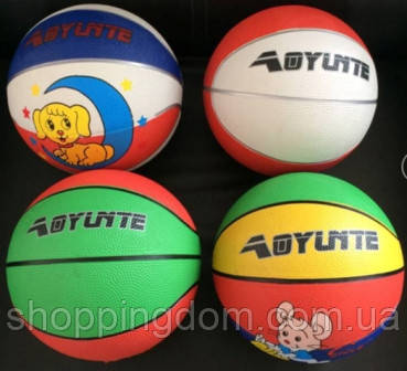 Мяч баскетбольный BT-BTB-0014 резиновый, размер 3 300г 4цв.ш.к./80/(BT-BTB-0014) - ШоппингДом в Днепре