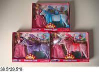 """Кукла 3322 11,5"""" с лошадью флок. 11,5"""", 3 в., кор., 38.5*29.5*8 ш.к. /24/(3322)"""