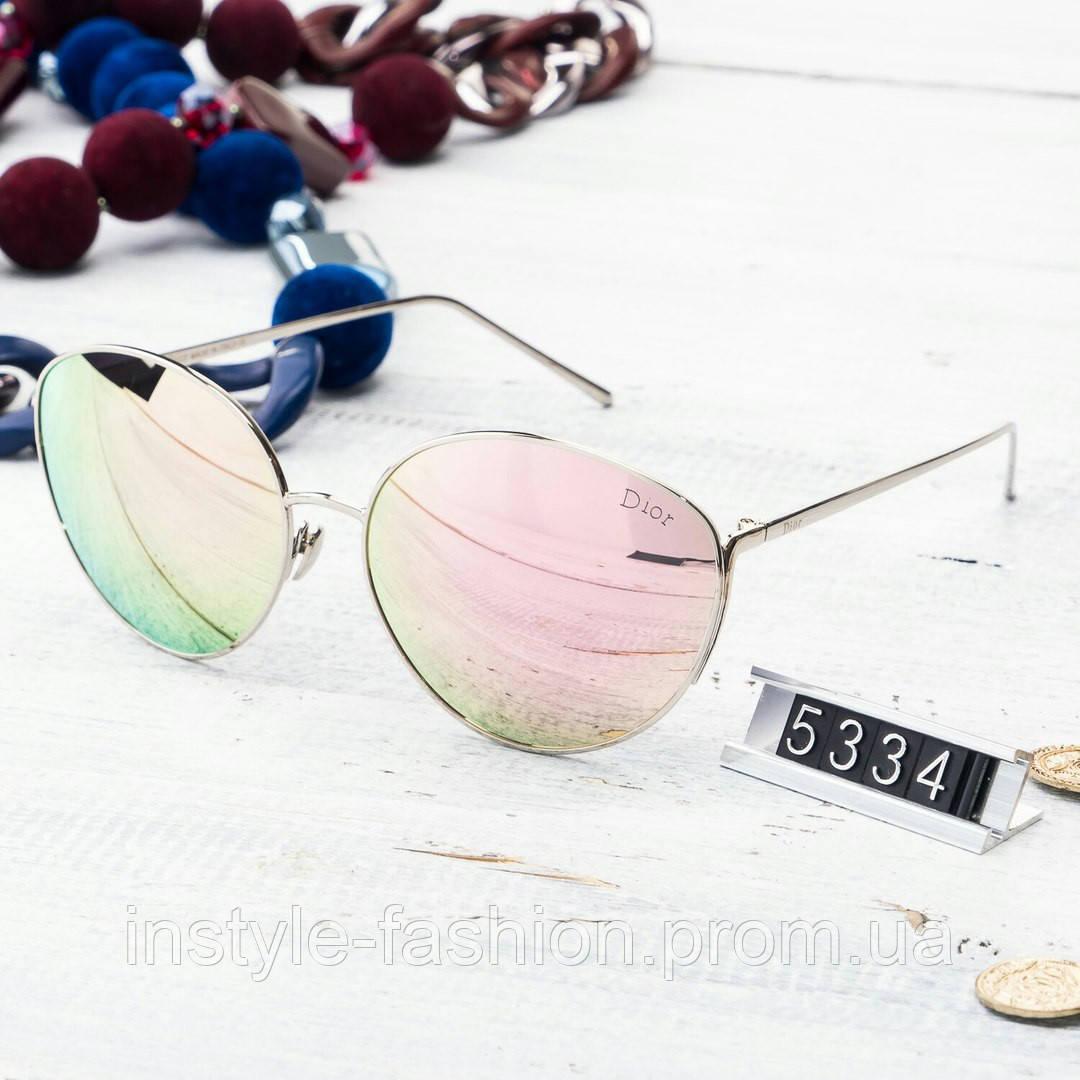 Женские брендовые очки копия Диор круглые