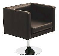 Дизайнерское кресло Марс  черная искусственная кожа