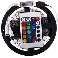 Светодиодная лента (в силиконе) RGB 3528 5 метров+пульт+контроллер+блок питания, LED лента многоцветная, Скидки