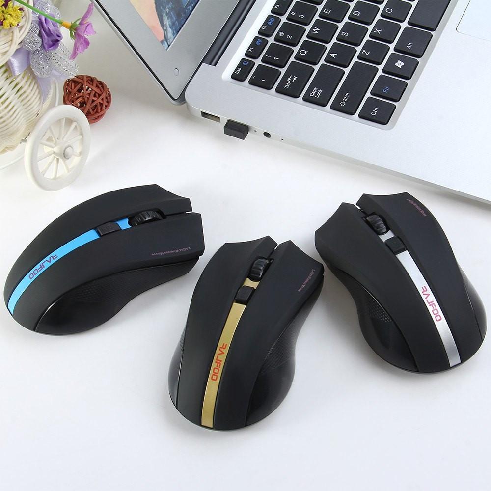 RAJFOO I8 оптическая радио мышь с USB приемником на батарейках