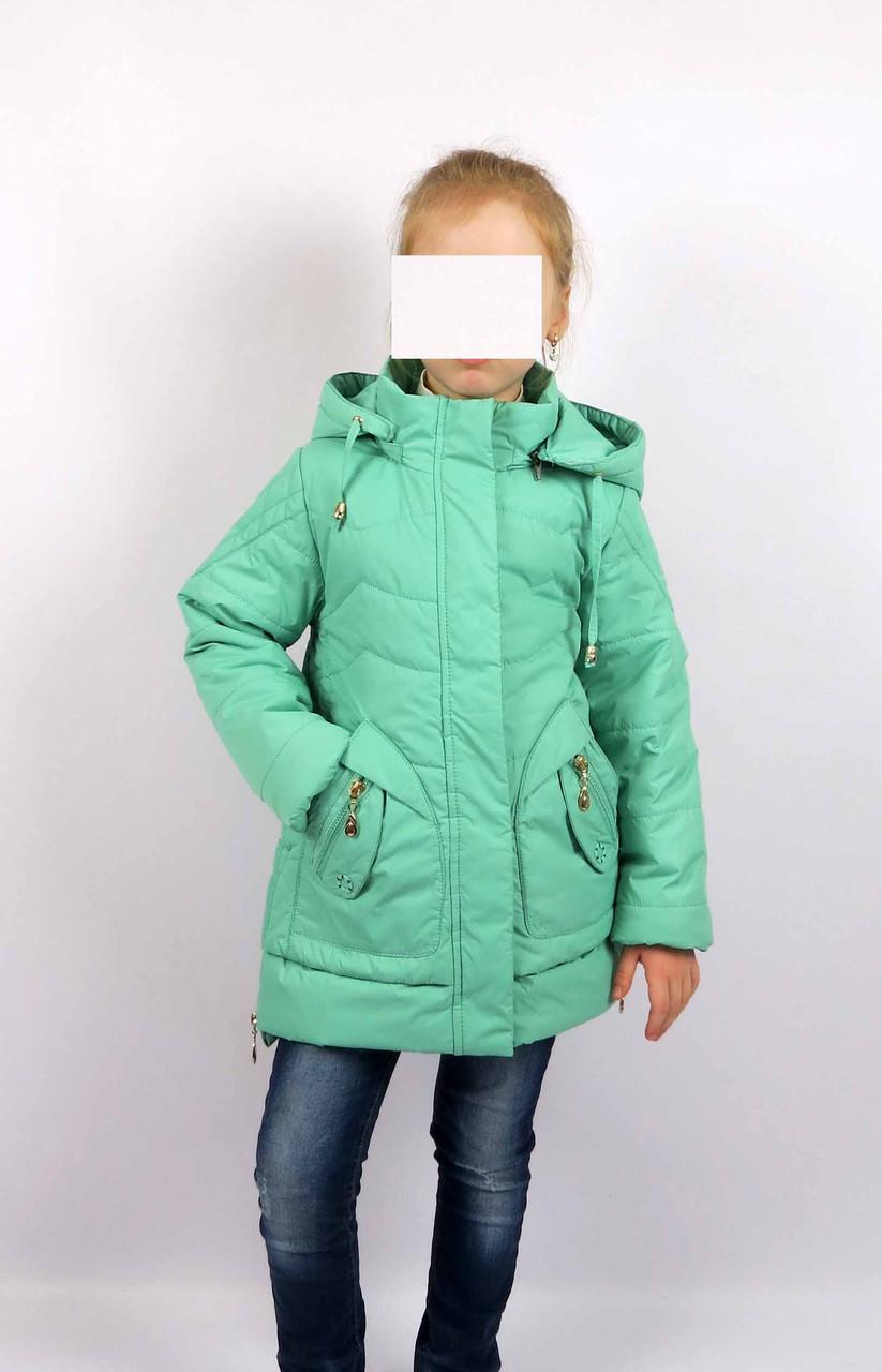 Куртка весна-осень, код КТ 17-16, размеры 122-146 (6-12 лет), цвет бирюза, фото 1