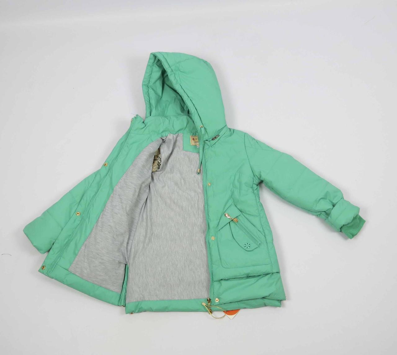 Куртка весна-осень, код КТ 17-16, размеры 122-146 (6-12 лет), цвет бирюза, фото 3
