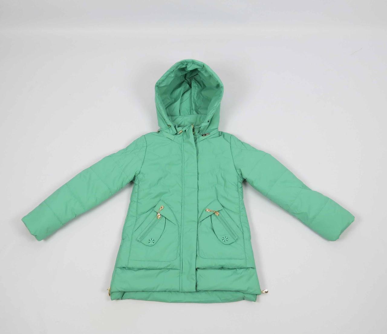 Куртка весна-осень, код КТ 17-16, размеры 122-146 (6-12 лет), цвет бирюза, фото 4