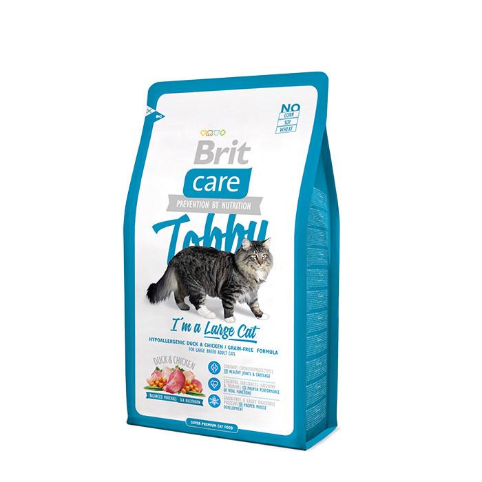 Сухой корм Brit Care Cat Tobby с уткой и курицей для кошек крупных пород, 7 кг