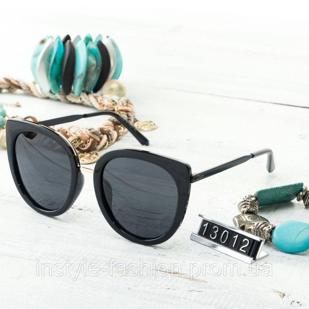 Женские брендовые очки копия Диор реплика в черной оправе