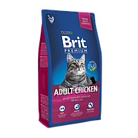 Brit Premium Cat Adult Chicken с курицей для взрослых кошек, 0,8 кг