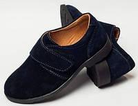 Детские туфли кожаные 27-32 на липучке, обувь детская для мальчика от производителя модель ДЖ-3727