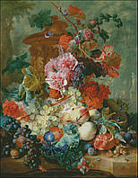 """Набор для вышивания """"Натюрморт с виноградом и персиком"""", фото 1"""