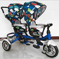 Велосипед - коляска для двоих деток Duos (Дуос), с поворотным сиденьем M 3116TW-5A-D