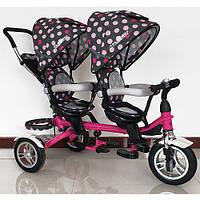 Велосипед - коляска для двоих деток Duos (Дуос), с поворотным сиденьем M 3116TW-6A-D