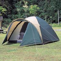 Палатка шести 6 местная двухслойная с тамбуром коридором намет
