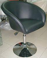 Дизайнерское кресло Мурат  черная искусственная кожа поворотный и подъемный механизмы
