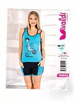 Комплект женский летний футболка с шортами VIVALDI
