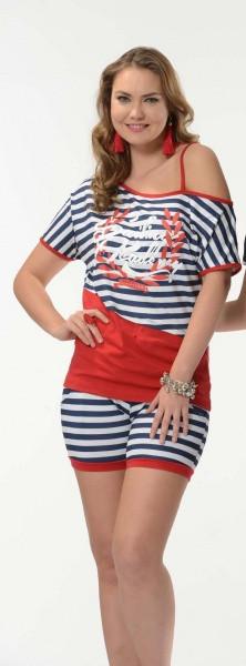 Комплект женский  шорты+майка