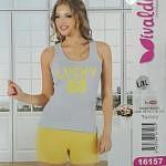 Костюм летний женский трикотажный футболка с шортами, турция