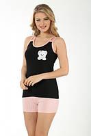 Майка с шортами женский трикотажный комплект турция