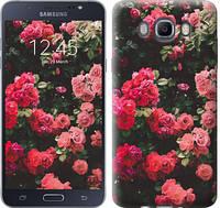 """Чехол на Samsung Galaxy J7 (2016) J710F Куст с розами """"2729c-263"""""""