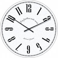 Часы настенные из стекла - белые (немецкий механизм)