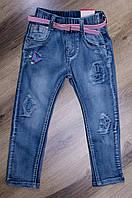 Весенние джинсы для девочек от производителя Childhood, Венгрия. Р-ры: 74-104