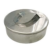 Заглушка для дымохода 100 мм из нержавеющей стали «Версия Люкс»