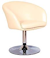 Дизайнерское кресло Мурат бежевая искусственная кожа поворотный и подъемный механизмы