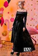 Платье в пол / бархат муар / Украина, фото 1