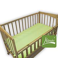 Простынь на резинке в детскую кроватку 80х140