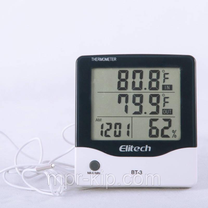 Цифровий термо-гігрометр Elitech ВТ-3 (Великобританія) (0-50 С; 20%...99%) з термопарою 1.5 м (-50...+70°C)