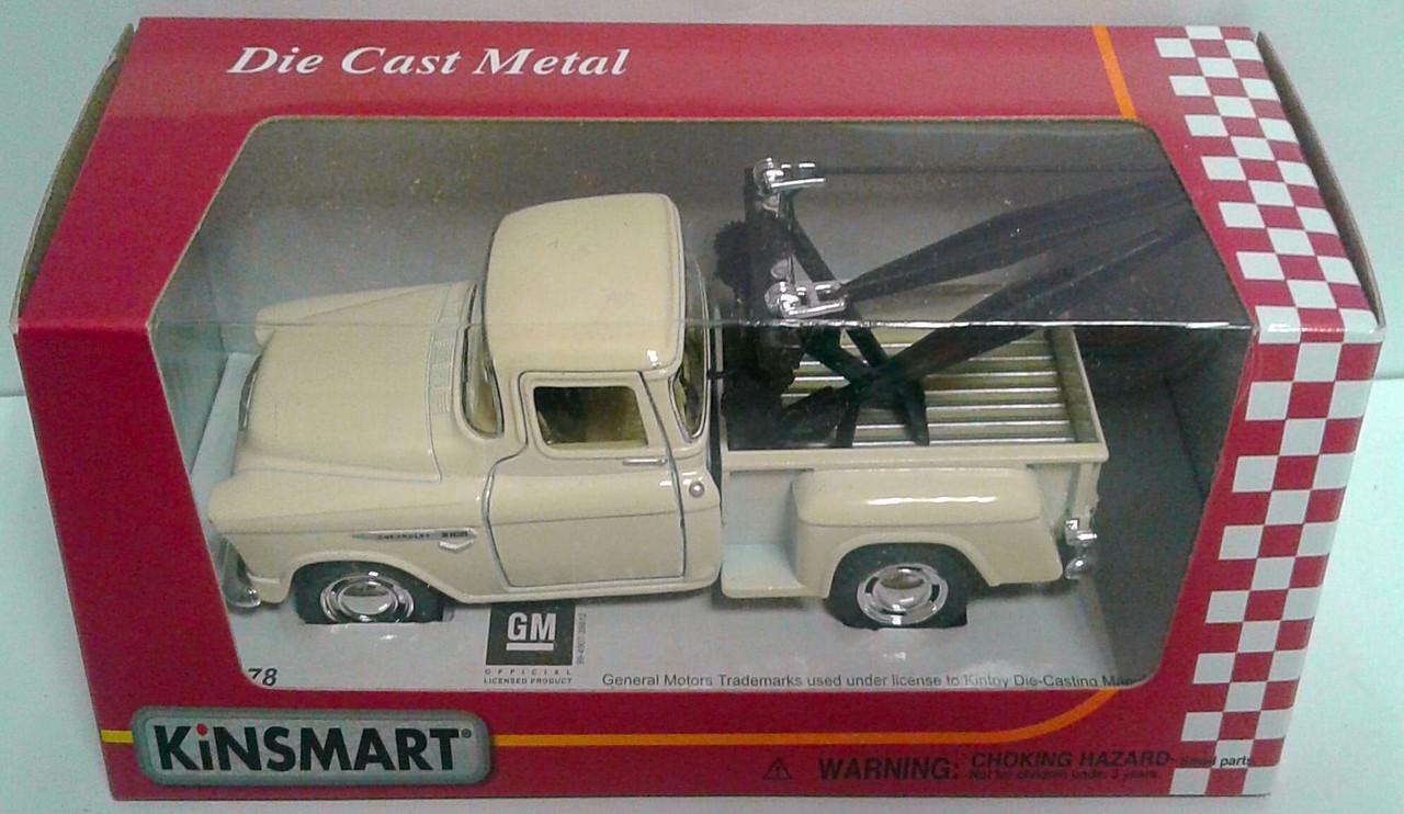 Машина. Автомодель металлическая 1:43, 1:50 1955 Chevy 3100 Stepside Tow Truck KT5378W Kinsmart Китай