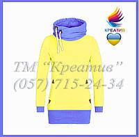 Жовто-блакитний світшот з Вашим лого (заказ від 50 шт.), фото 1