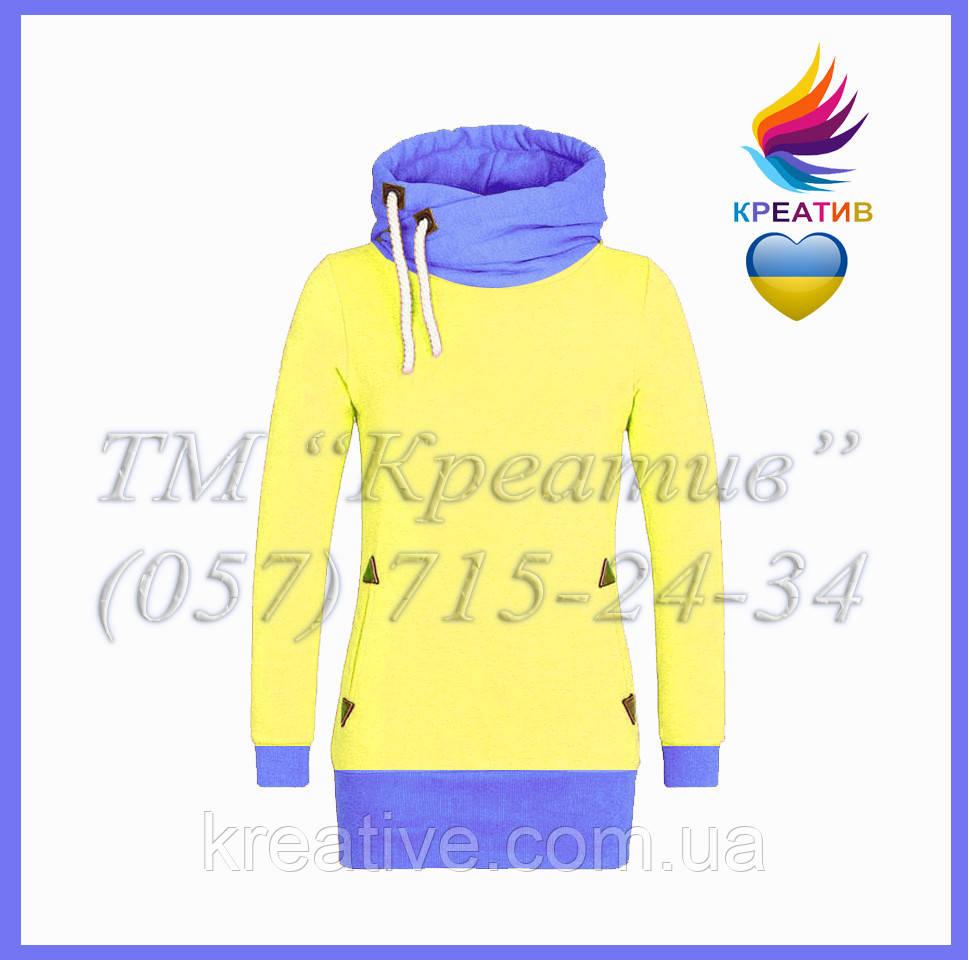 Жовто-блакитний світшот з Вашим лого (заказ від 50 шт.)