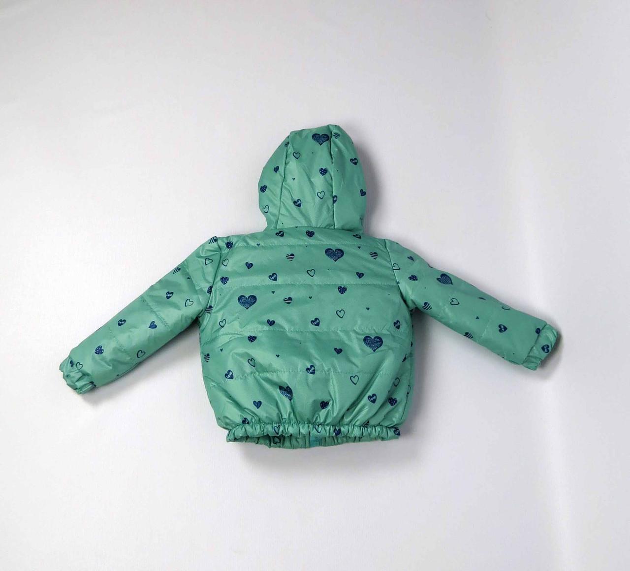 Куртка весна осень беби  код 106 размер 86-104 (1-4 лет) цвет бирюза, фото 2