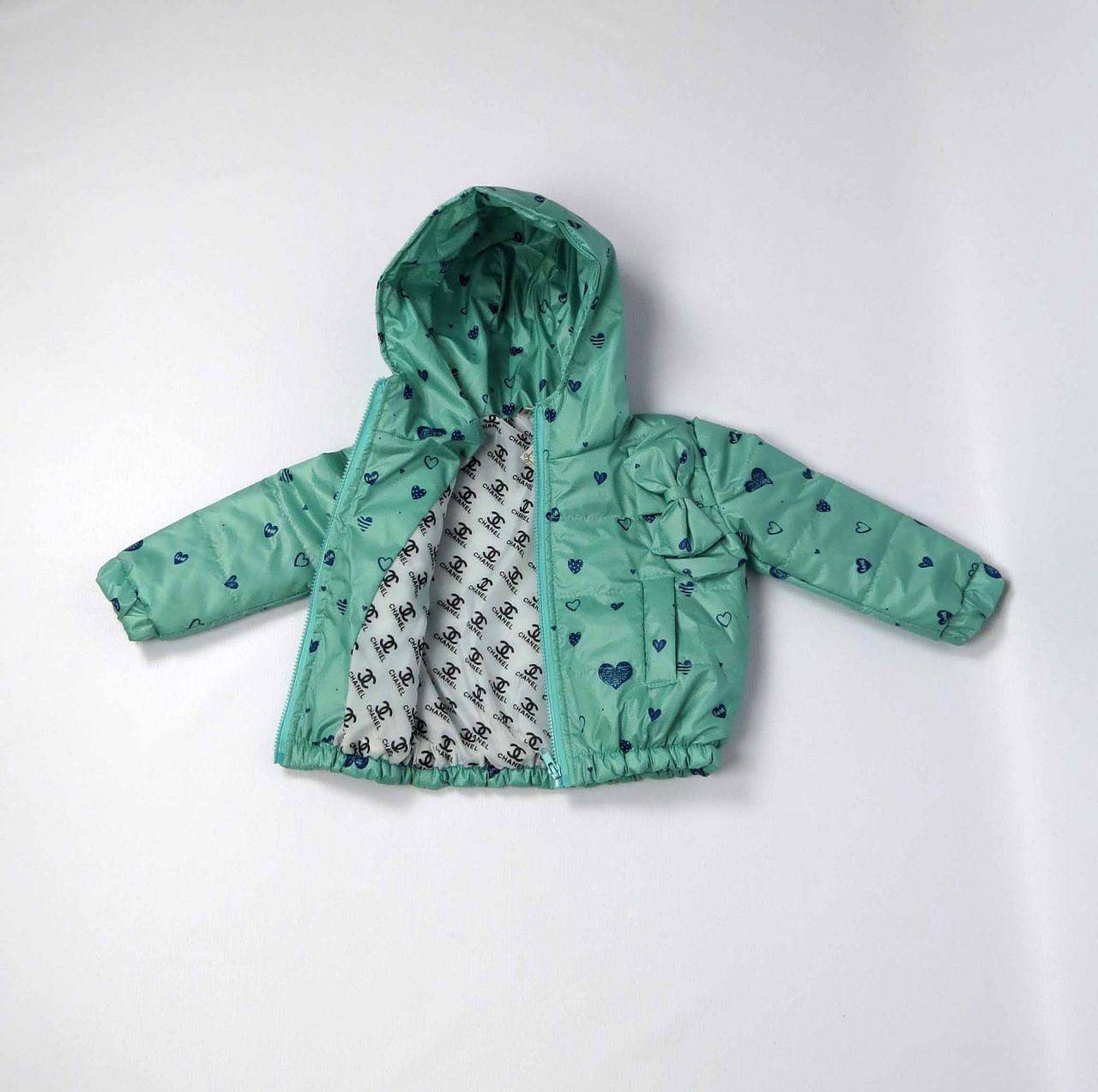 Куртка весна осень беби  код 106 размер 86-104 (1-4 лет) цвет бирюза, фото 3