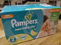Подгузники Pampers Active baby-dry 2 3-6кг 100шт